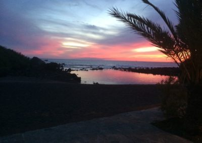Sonnenuntergang Charco del Conde