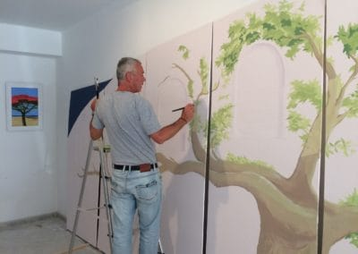 Wandgestaltung Sano y Salvo Claudine Gloor
