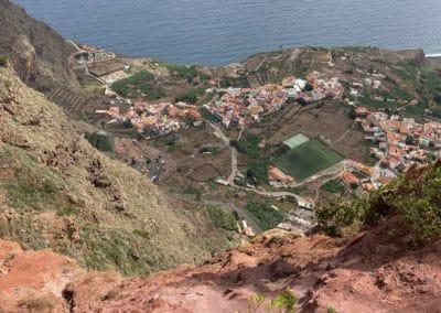 Blick von ganz oben Mirador Abrante runter auf Agulo